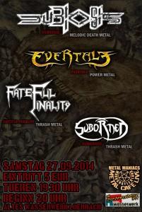 Flyer Metal Cafe 27.09.14