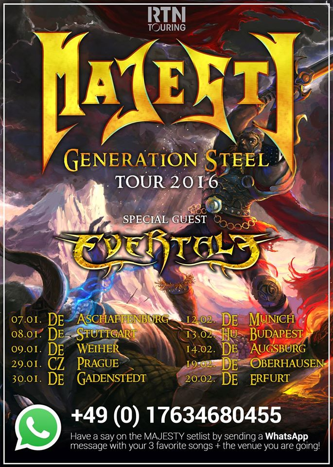 Tourposter Majesty 2016